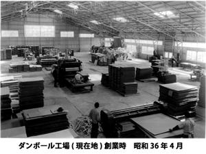創業当時の段ボール工場