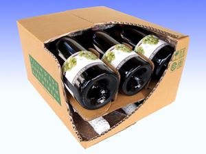ワイン6本入梱包箱